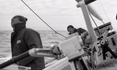 A Cold February Afternoon, Ted Hood at helm of Independence 1977
