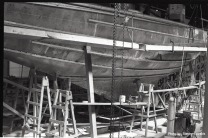 Courageous' hull plated, keel mated