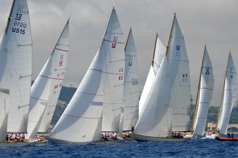 12 Metres racing in Barcelona during the 2014 12 Metre World Championship.
