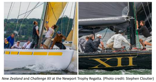 New Zealand and Challenge XII at the Newport Trophy Regatta, Stephen Coutier photo