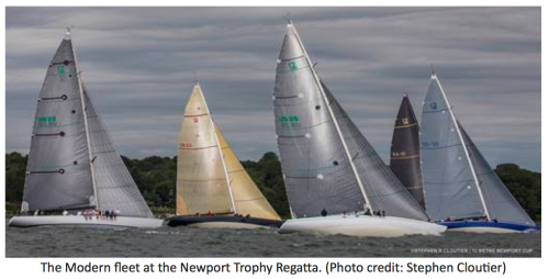 The Modern fleet at the Newport Trophy Regatta,Stephen Coutier photo