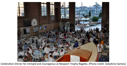 Celebration Dinner for Intrepid and Courageous at Newport Trophy Regatta, photo: SallyAnne Santos