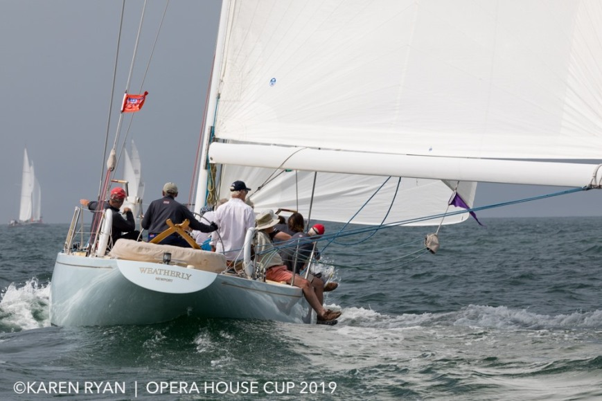 Weatherly (US-17) sailing at the Opera House Cup, Nantucket, August 2019