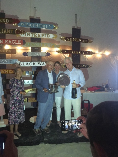 Weatherly's Opera House Cup winning skipper Gewirtz and owner George Hill