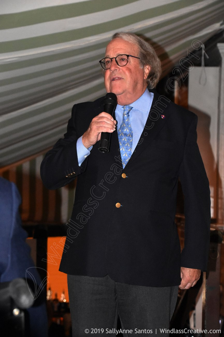 Commodore James Gublemann at the 2019 12 Metre Yacht Club Annual Dinner held at the Clarke Cooke House on September 19, 2019