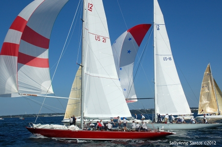 American Eagle (US-21) racing at 2012 12mR North American Championship, Newport, RI ~ photo by: SallyAnne Santos
