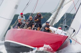 American Eagle (US-21) racing at 2019 12mR World Championship, Newport, RI ~ photo by: Ian Roman