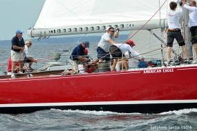 American Eagle (US-21) racing at 2016 12mR North American Championship, Newport, RI ~ photo by: SallyAnne Santos
