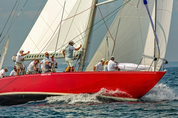 American Eagle (US-21) racing at 2019 12mR World Championship, Newport, RI ~ photo by: Chris Tucker