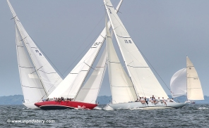 American Eagle (US-21) racing at 2019 12mR World Championship, Newport, RI ~ photo by: Ingrid Abery