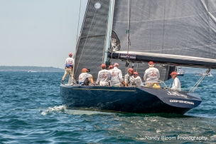 Defender racing at 2019 12mR World Championship, Newport, RI ~ photo by: Nancy Bloom