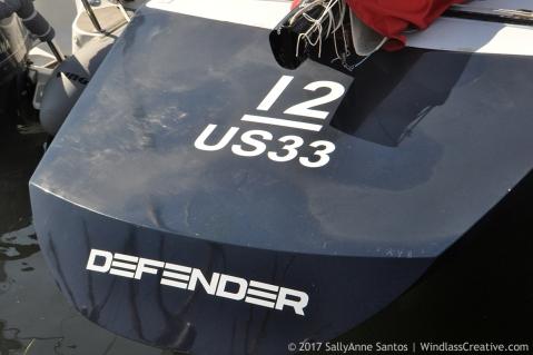 Defender (US-33) racing at 2017 METREFEST Newport ~ photo by: SallyAnne Santos