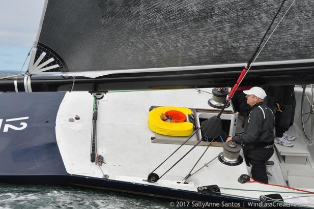 Defender (US-33) racing at 2017 12mR North American Championship Newport, RI ~ photo by: SallyAnne Santos
