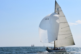Onawa (US-6) racing at 2019 12mR Championship, Newport RI-- photo by SallyAnne Santos