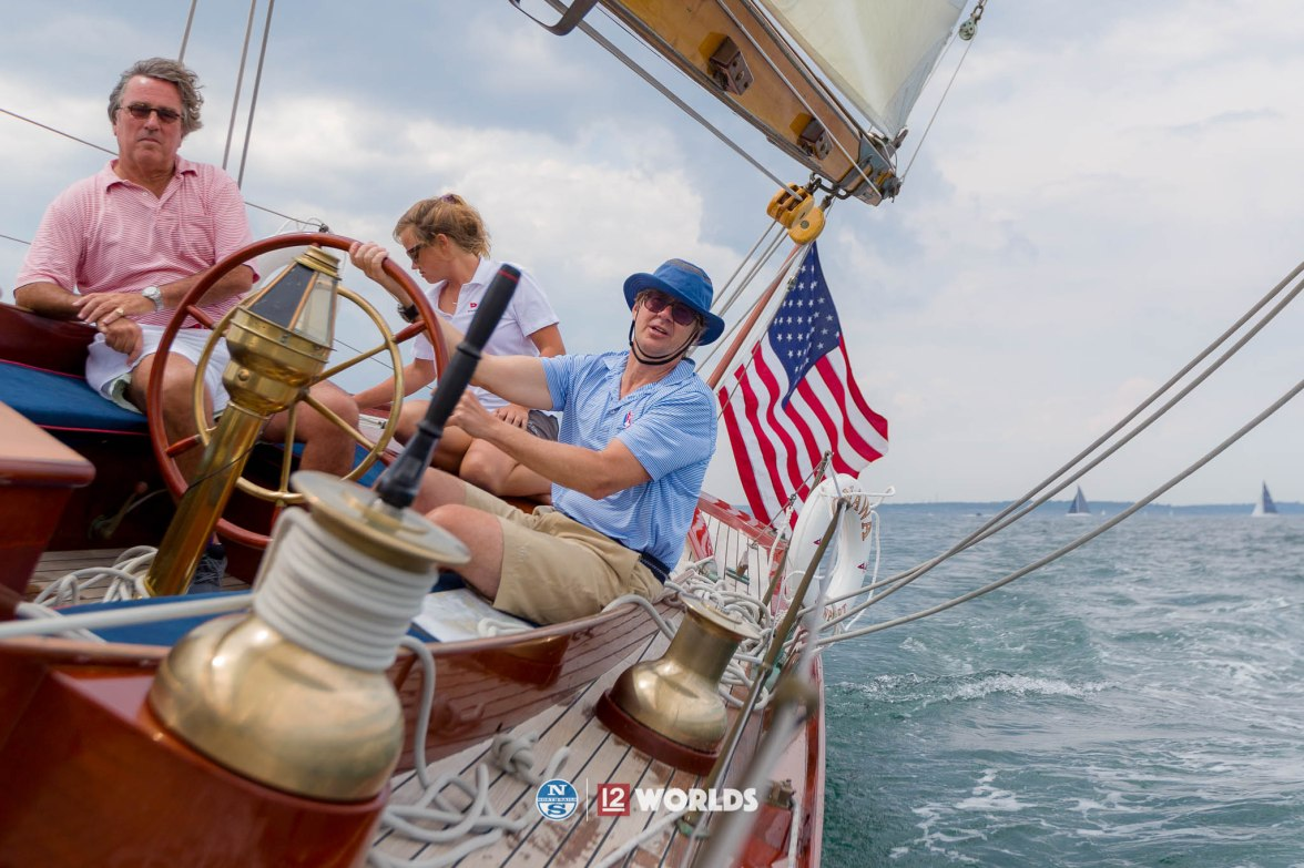 4th July 2019. Training onboard Onawa, US6 ahead of the 12m Worlds 2019. Hosted by Ida Lewis Yacht Club, Newport, RI.