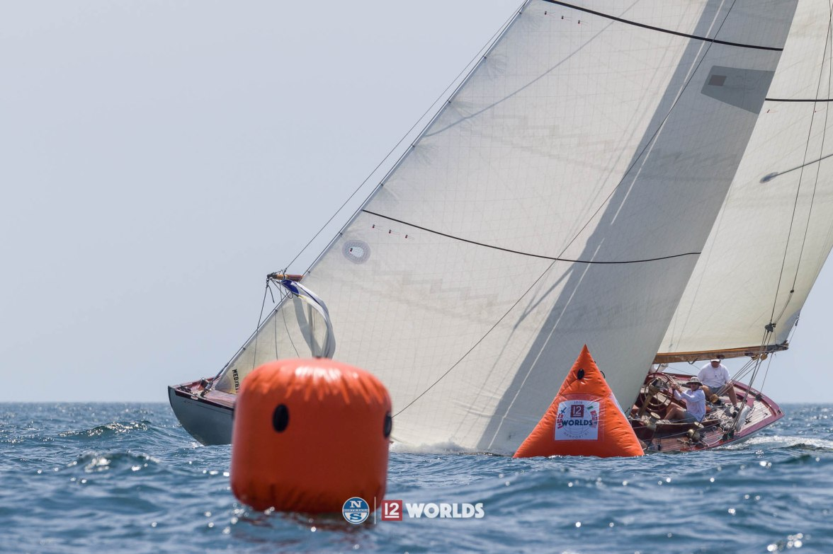 Onawa (US-6) racing at 2019 12mR Pre Worlds. Newport, RI.
