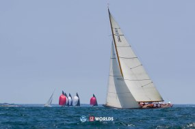 Onawa (US-6) racing at 2019 12mR Pre Worlds. Newport, RI.