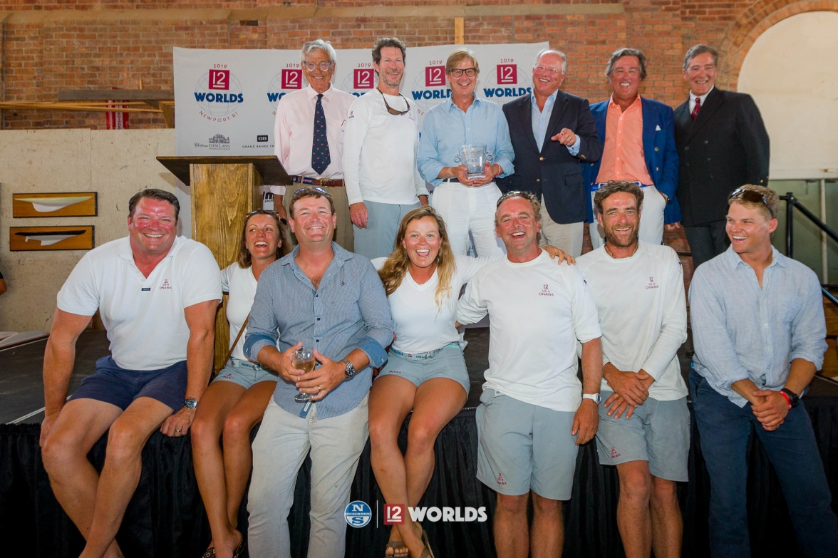 Onawa(US-6) awarded second in Vintage division at the 2019 12mR World Championship, Newport, RI