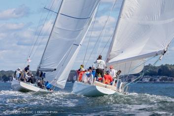 Nefertiti (US-19) at 2020 Herreshoff Classic Yacht Regatta, Bristol, RI ~ photo by: Karen Ryan
