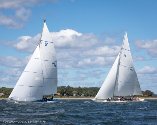 Nefertiti (US-19) at 2020 Herreshoff Classic Yacht Regatta, Bristol, RI ~ photo by: Karen Ryan
