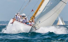 Onawa (US-6) racing at 2019 12mR Championship, Newport RI-- photo by Rob Migliaccio